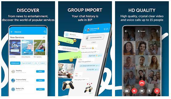 برنامج بيب ماسنجر BiP Messenger apk
